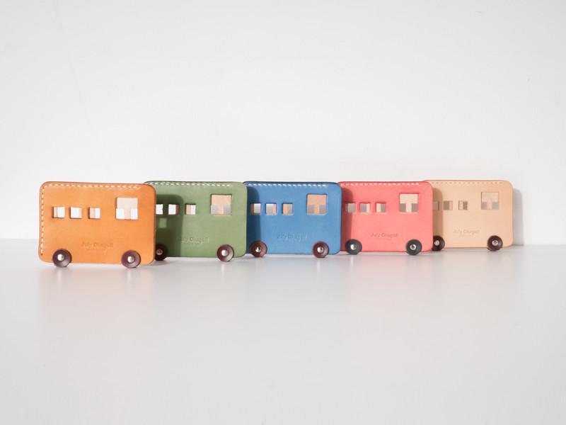 匠心出品手工制作 · 巴士款手缝公交地铁卡套 红