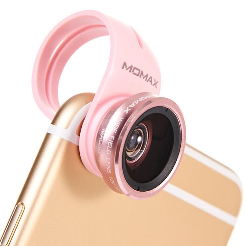 手机拍照技能加持 · x-lens 四合一手机镜头 玫瑰金