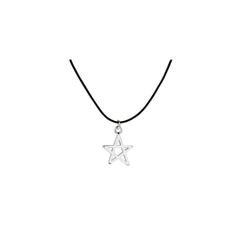 五角星时尚又减龄 · 五角星镂空项链 银色