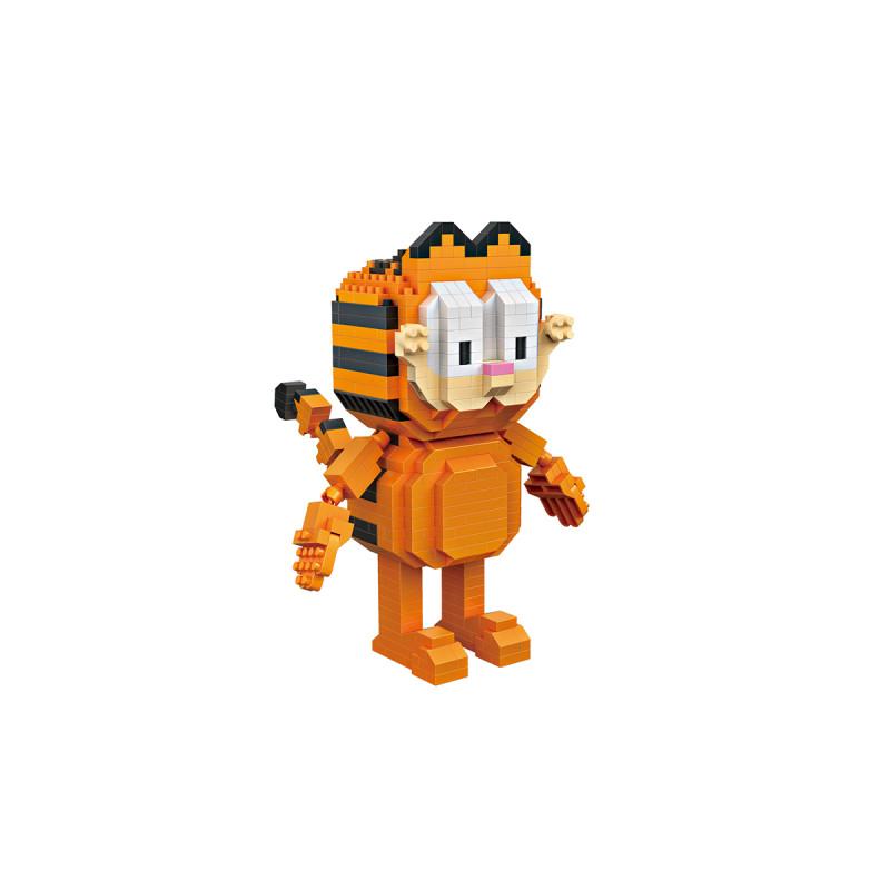 超mini立体感十足 · 动漫卡通形象系列拼插积木 加菲猫站立版