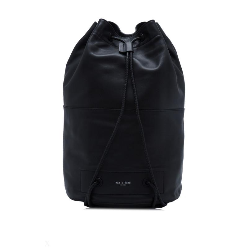 个性炫酷水桶包 · 女士双肩包 黑色