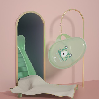 aycare婴餐具辅食碗套装珀绿