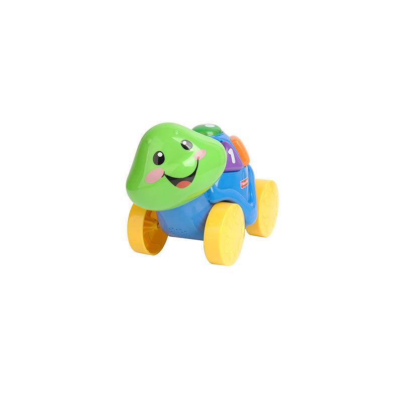 小海龟有着亲切可爱的笑脸,在欢迎宝宝和它玩耍哦,背上有5个按钮,按下
