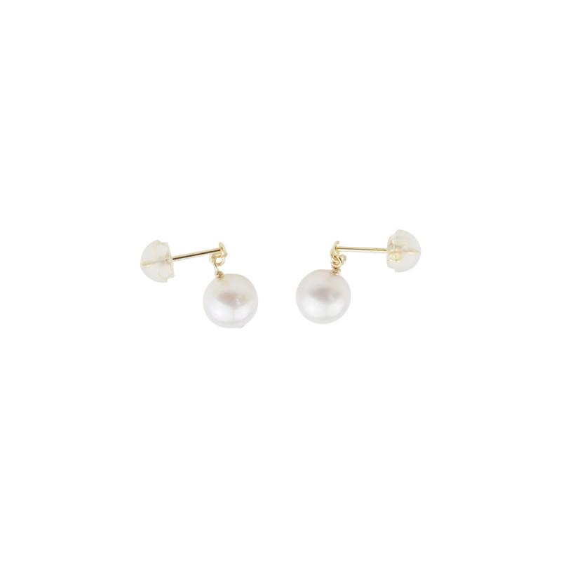 平价版mikimoto · akoya珍珠18k金单珠耳钉